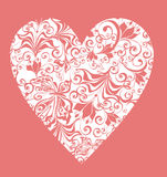 Lacy heart. Vector illustration Stock Photo