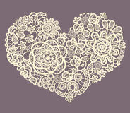 Lacy heart Royalty Free Stock Photos