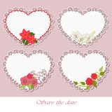 Lacy hearts Royalty Free Stock Photo