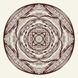 Lacy Henna Ornament redonda stock de ilustración