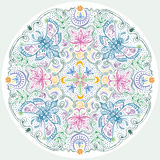 Lacy Indian Style Mandala colorido libre illustration