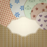 Lacy napkin abd circle retro  patternbackgr Royalty Free Stock Photo