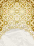 Lacy napkin on floral background Stock Photos