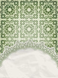 Lacy napkin on floral background Stock Image