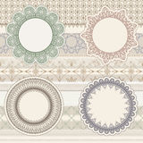 Lacy napkins on seamless pattern Royalty Free Stock Photography
