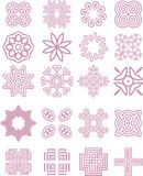 Lacy ornaments collection. Collection of 20 lacy ornaments vector illustration
