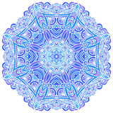 Lacy ornate  blue napkin Royalty Free Stock Image
