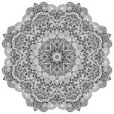 Lacy ornate vector black napkin Royalty Free Stock Photography