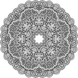 Lacy ornate vector black napkin Royalty Free Stock Photos