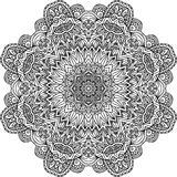 Lacy ornate vector black napkin Stock Photography