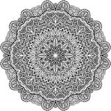 Lacy ornate vector black napkin Stock Image