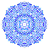 Lacy ornate vector blue napkin. On white background Royalty Free Stock Image