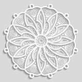 Lacy paper doily, decorative flower, decorative snowflake, lacy mandala, lace pattern, arabic ornament Royalty Free Stock Images