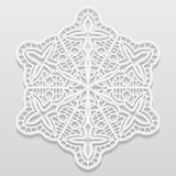 Lacy paper doily, decorative flower, decorative snowflake, mandala Royalty Free Stock Images