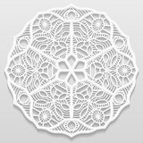 Lacy paper doily, decorative flower, decorative snowflake Royalty Free Stock Photos