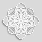 Lacy paper doily, decorative flower Stock Photos