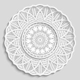 Lacy paper doily, decorative flower Stock Images