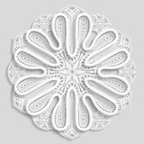 Lacy paper doily, decorative flower Royalty Free Stock Photography