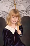 lacy parasol dziewczyna Zdjęcie Stock
