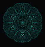 Lacy Pattern. Lacy floral pattern on a dark background Royalty Free Stock Images