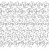 Lacy Pattern ornamental con las rosas stock de ilustración