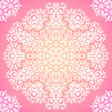 Lacy pink ornate seamless pattern Royalty Free Stock Image