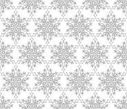 Lacy Regular Oriental Ornament ornamental Modelo inconsútil de la nieve stock de ilustración