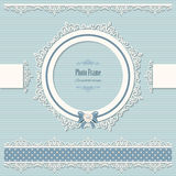 Lacy round frame and borders. Vintage. Royalty Free Stock Photo