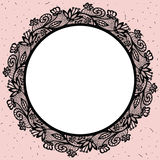 Lacy round frame. royalty free illustration
