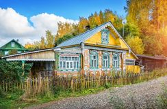 Lacy Russian house Royalty Free Stock Image