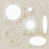 Lacy scrapbook design patterns Royalty Free Stock Photo