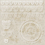 Lacy scrapbook design patterns Royalty Free Stock Image