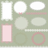 Lacy scrapbook napkin and frame design Stock Image