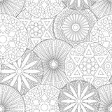 Lacy seamless floral pattern in black and white Royalty Free Stock Photo