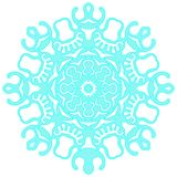 Blue lacy snowflake. Vector illustration. Lacy snowflake. Vector illustration. Lacy napkin. Winter illustration. Christmas Stock Photos