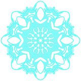 Blue lacy snowflake. Vector illustration. Lacy snowflake. Vector illustration. Lacy napkin. Winter illustration. Christmas. White background Royalty Free Stock Images