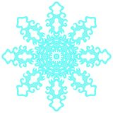 Blue lacy snowflake. Vector illustration. Lacy snowflake. Vector illustration. Lacy napkin. Winter illustration. Christmas. White background Stock Photos