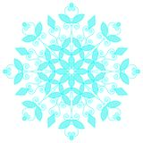Blue lacy snowflake. Vector illustration. Stock Photography