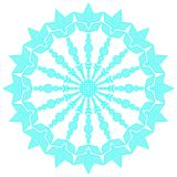Blue lacy snowflake. Vector illustration. Lacy snowflake. Vector illustration. Lacy napkin. Winter illustration. Christmas. White background. Rhombus Stock Photos