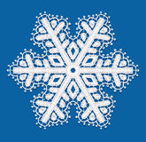 Lacy snowflake. vector illustration