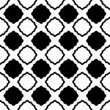 Lacy Squares Seamless Background. Black and white chess board lacy squares background seamless pattern Stock Photo
