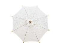 Lacy umbrella, umbrella handmade on white background, with clipp Stock Photography
