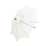 Lacy umbrella, umbrella handmade on white background, with clipp Royalty Free Stock Image