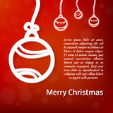Lacy vector paper Christmas circular elements Stock Images