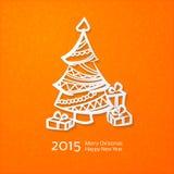 Lacy vector paper Christmas circular elements Royalty Free Stock Photos