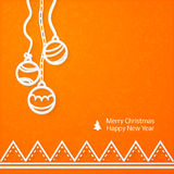 Lacy vector paper Christmas circular elements Royalty Free Stock Photography