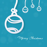 Lacy vector paper Christmas circular elements Stock Photography