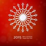 Lacy vector paper Christmas circular elements Stock Photos