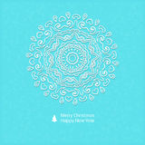Lacy vector paper Christmas circular elements Royalty Free Stock Images