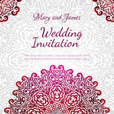 Lacy vector wedding card template royalty free illustration
